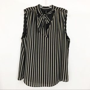 White House Black Market Striped Tank Top Blouse